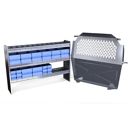 62 aluminum van shelving w bin and partition kit. Black Bedroom Furniture Sets. Home Design Ideas