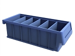 "5"" Wide Stackable Dividable Plastic Bin"