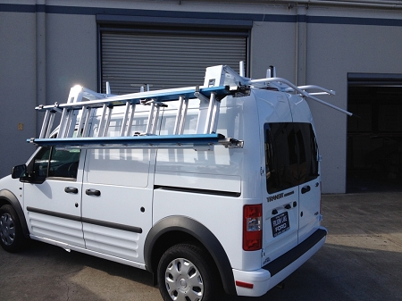 Transit Connect Cargo Commercial Van Ladder Rack Single