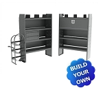 Kargo Master TRANSIT HVAC/Plumbing Mid/High Roof Steel Van Shelving Package
