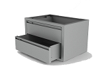 Steel 2 Drawer Cabinet