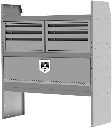 42 Quot Inch Adjustable Shelving Security Kit With 3 Drawer