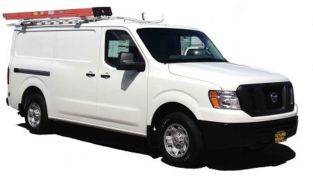 Kargo Master Low Roof Van Drop Down Ladder Rack For Transit/Nissan NV/  Metris