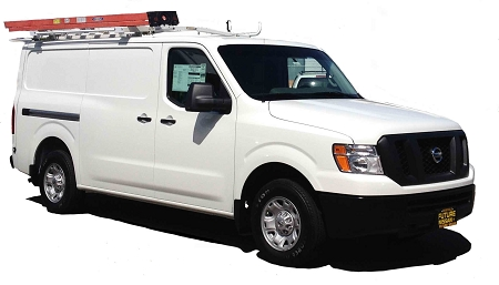 Nissan Nv 3500 >> Ford Transit/Nissan NV Low Roof Cargo Van Drop Down Ladder Rack