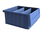 "10"" Wide Stackable Dividable Plastic Bin"