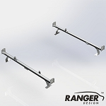 Ranger Design Cargo Rack For Vans, 2 Bar System for Ford Transit LWB