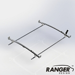 Ranger Design Standard Ladder Rack 2 Bar System for Ford Transit LWB