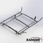 Ranger Design Aluminum Combination Rack For Cargo Vans, 2 Bar System for Ford Transit Connect