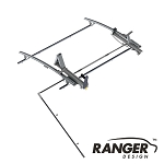 Ranger Design Single Drop Down Ladder Rack for Mercedes Sprinter