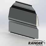 Ranger Design Solid Contoured Aluminum Partition for Mercedes Sprinter High Roof