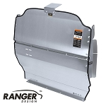 Ranger Design Solid Contoured Aluminum Partition for Nissan NV200 and Chevy City Express