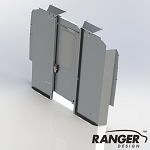 Ranger Design Sliding Door Aluminum Partition for RAM ProMaster