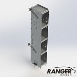 Ranger Design Bookshelf with 5 Shelves for Mid/High Roof Transit, High Roof NV, and Box Truck