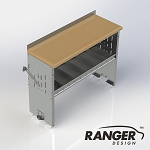 Ranger Design Workbench with 1 Shelf - 48 x 18 x 36 in