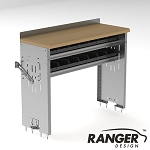 Ranger Design Workbench with 2 Bin Shelves - 48 x 18 x 36 in