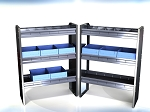 Aluminum Shelving Package for Compact Van