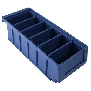"Kargo Master 5"" Wide Stackable Dividable Plastic Bin (Pack of 8)"