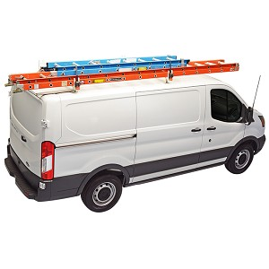 Kargo Master Steel Crossbar Utility Van Rack with Wind Deflector