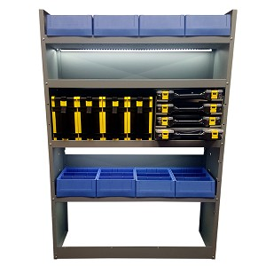 High Roof Shelving Organizer Bundle with LED Lighting