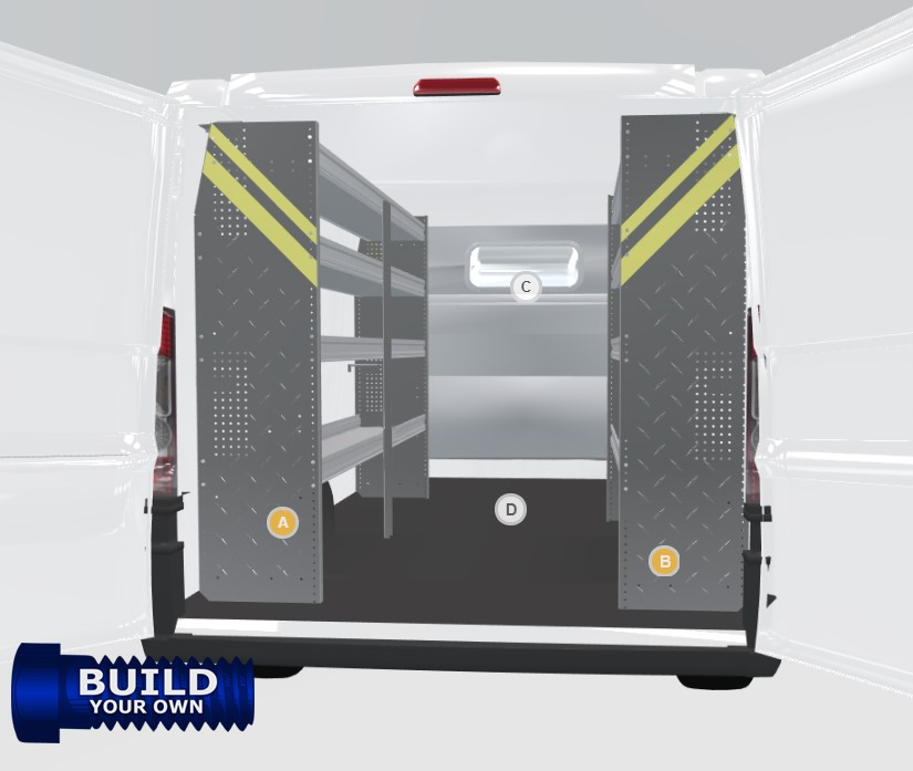 Ram ProMaster Build Your Own Van Shelving Package