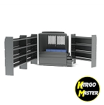 Kargo Master Sprinter Low Roof Van EZ All Trade Van Steel Shelving Package