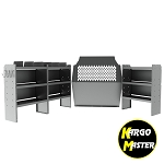 Kargo Master Chevy City Express Deluxe Commercial Van Steel Shelving Package