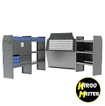 Kargo Master Chevy City Express Electrical Contractor Van Steel Shelving Package