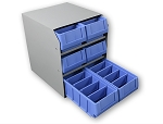Kargo Master 6 Stacked Small Parts Bin Cabinet