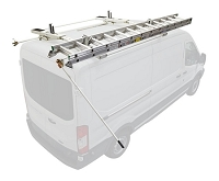 Kargo Master Mid/High Roof A-Series Double Side Cargo Van Drop Down Ladder Rack