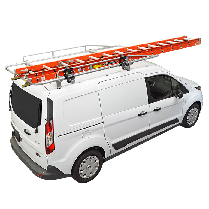 Kargo Master Aluminum PROIII Ladder Rack For Transit Connect 2014 Nissan NV200 Chevy City Express ProMaster Or Camper Shell