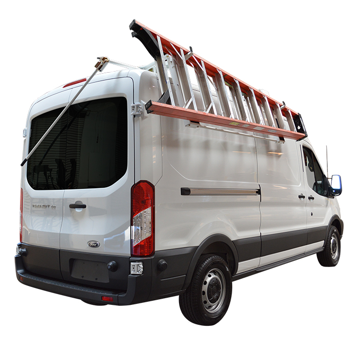 425fabf8123126 ProMaster Transit Sprinter Mid Roof Van Drop Down Ladder Rack