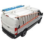 Kargo Master Low Roof Steel Van Drop Down Ladder Rack for Transit/Nissan NV/ Metris