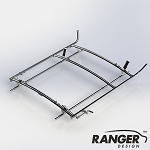 Ranger Design Combination Rack For Cargo Vans, 2 Bar System for Ford Transit LWB