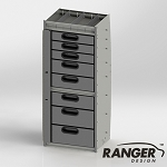 Ranger Design Aluminum 8 Drawer Cabinet for Transit/NV/Sprinter/ProMaster