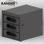 Ranger Design Aluminum 3 Drawer Cabinet