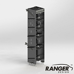 Ranger Design Square Back 5 Tier Refrigerant Rack for Cargo Vans - For Large Bottles