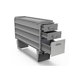 Kargo Master Heavy Duty 3 Long Drawer & Pivot Pro Rotating Wheel Stand