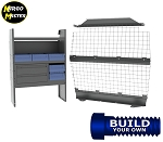 Kargo Master Chevy City Express General Contractor Steel Van Shelving Package