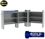 Kargo Master Mercedes Metris Build Your Own Telecom/Electrical Steel Van Shelving Package