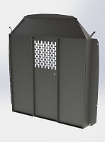 Kargo Master ProMaster/Sprinter Partition Bulkhead with Perforated Only on Center Panel