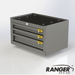 Ranger Design Steel Van Cabinet - 3 Drawer
