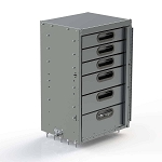 Ranger Design Aluminum 5 Drawer Cabinet with Bottom Door