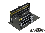 Ranger Design 14 Foot Box Truck HVAC Steel Shelving Package