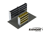 Ranger Design 14 Foot Box Truck Aluminum Shelving Package