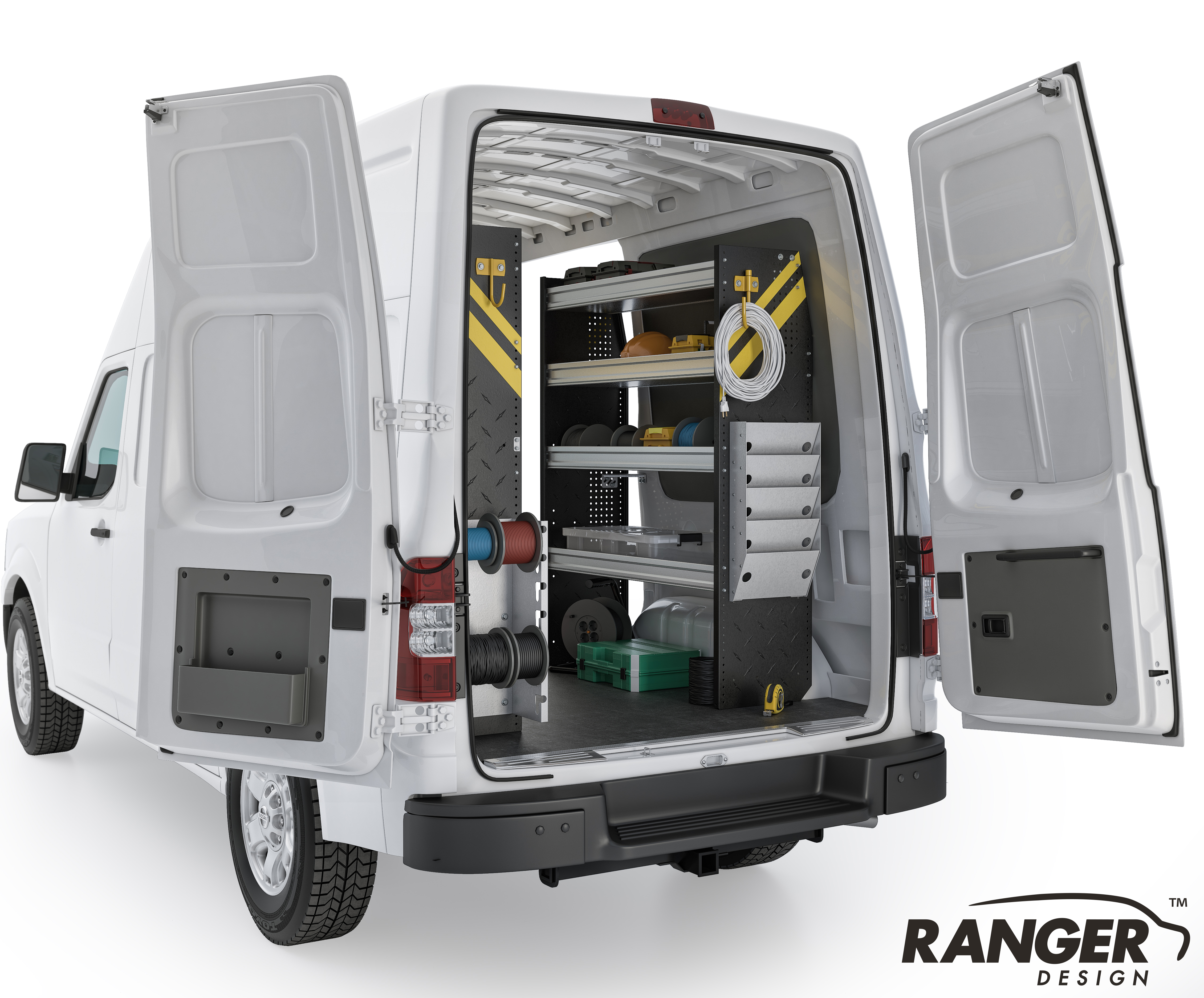 Ranger Design Electrical Steel Shelving Package For 146in