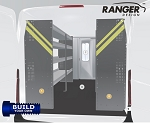 Ranger Design Build Your Own Sprinter Steel Shelving Package for 144