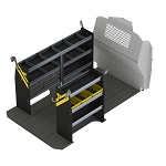 Ranger Design Deluxe Steel Service Shelving Package for Mercedes Metris 135in Wheelbase