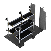 Ranger Design Nissan NV High Roof Aluminum Delivery Fold-Away Shelving Package