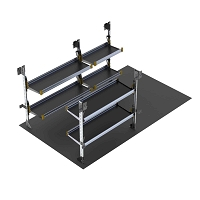 Ranger Design 10 Foot Box Truck Delivery Fold-Away Shelving Package