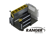 Ranger Design Deluxe Electrical Steel Shelving Package for Nissan NV200 and Chevy City Express